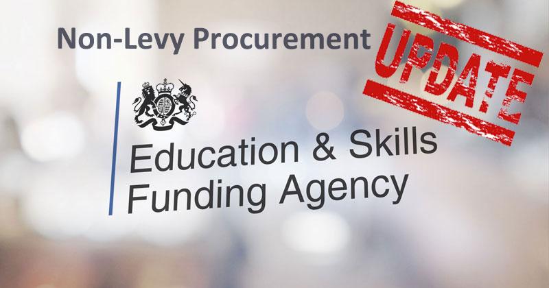 Quick Update On Non-Levy Procurement