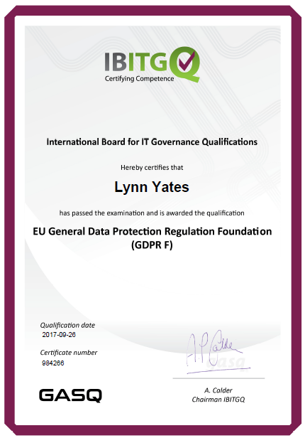GDPR Foundation Certificate