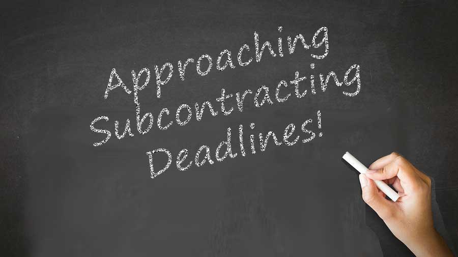 Subcontracting Deadlines 2020
